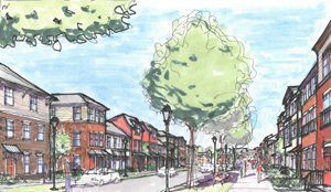 Victor Tulane Court Revitalization Drawing