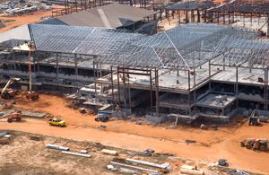 Enterprise High School steel structure